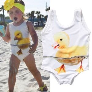 💦 05-11-18 HP 💦 One-Pc Baby Duck 3T Swimsuit